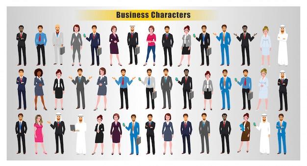 世界のビジネスキャラクターのポーズ