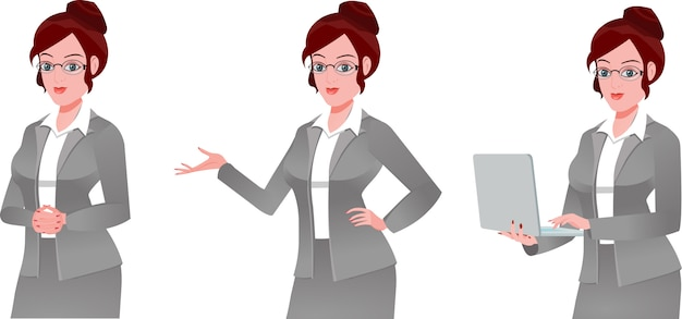 女性経営者のセット