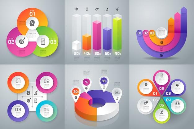 ビジネスインフォグラフィックのセット
