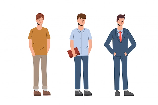 Характер людей мужчин в офисе.