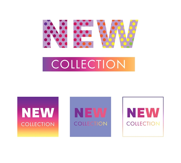 新しいコレクションタグとバナーデザイン。