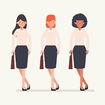 Анимация сцены деловых людей команде характер.