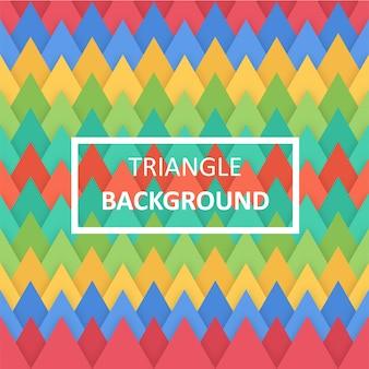 平らな三角形の背景