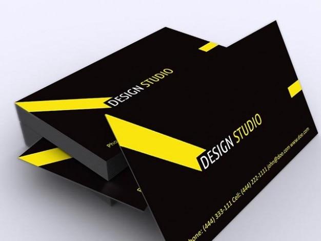 Корпоративная визитная карточка в черный и желтый