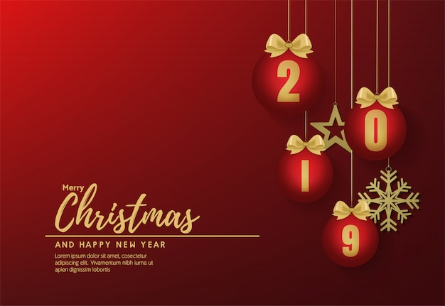 Счастливого рождества и счастливого нового года баннер вектор