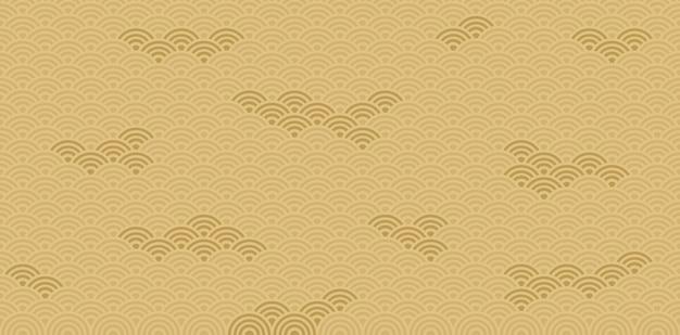 日本のパターンと背景。ベクターデザイン
