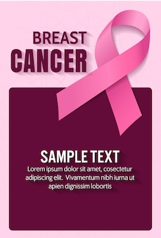 Рак молочной железы, векторный дизайн