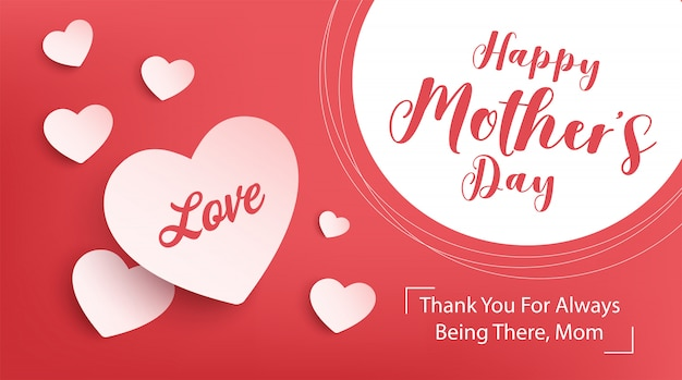 Счастливый день матери дизайн баннера. иллюстрация