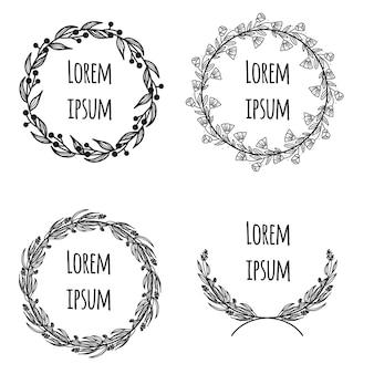 シンプルな結婚式の可愛い花輪