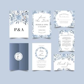 冬のテーマの結婚式の招待状