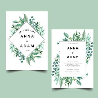 結婚式の招待状からの緑