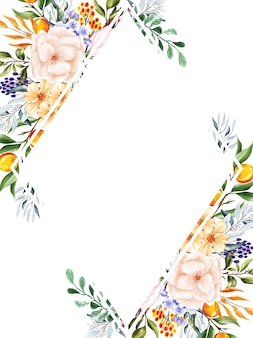 甘い桃の花のフレームの背景