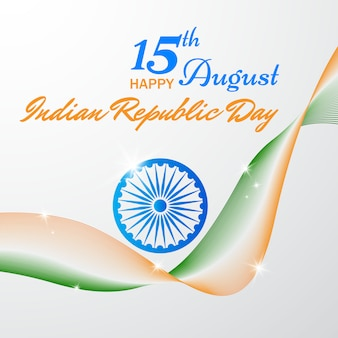 独立記念日のイラストデザイン