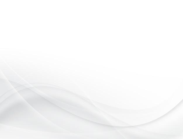 柔らかいグレーと白の波背景デザイン