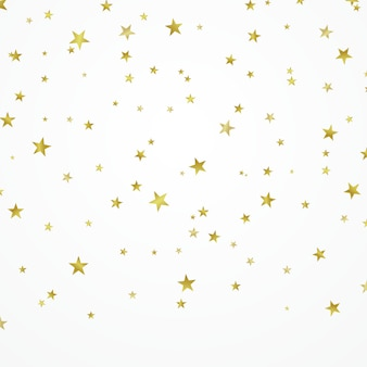 Золотые звезды красиво расположены на белом фоне