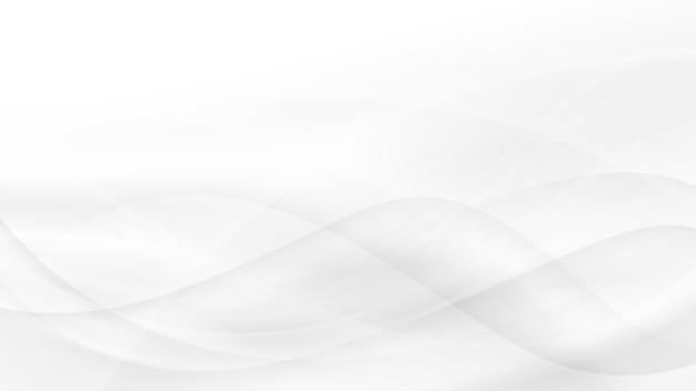 背景、白と灰色の波、抽象的なソフトなデザイン