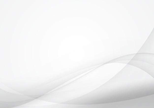 白とグレーの波の抽象的な背景。グラフィック作品のためのソフトなデザイン