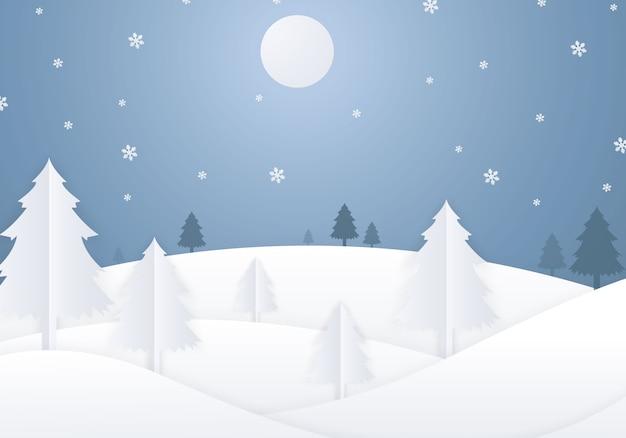 メリークリスマスと新年あけましておめでとうございます、美しい紙カットデザイン。