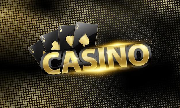 美しいコインとカジノの背景