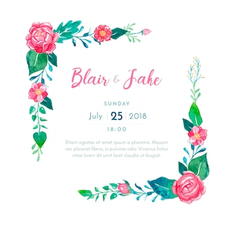 Прекрасный свадебный пригласительный билет