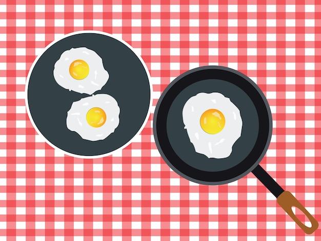 Жареный яичный завтрак.