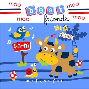 Корова и лучшие друзья