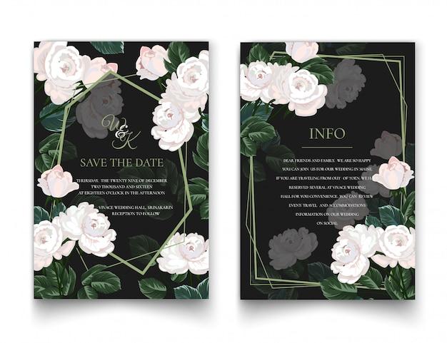 白バラの招待状。