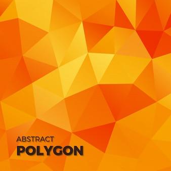 幾何学的な抽象的な多角形の黄色の色調