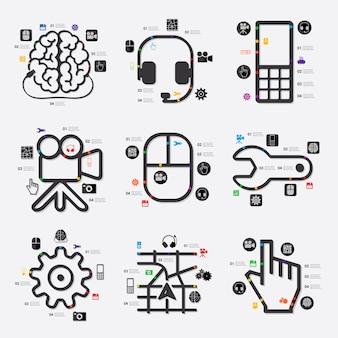 テクノロジーインフォグラフィック