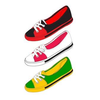 靴と靴のベクトル材料。図