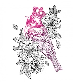 タトゥー鳥
