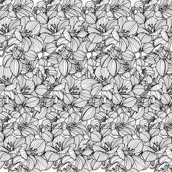 シームレスパターンの花