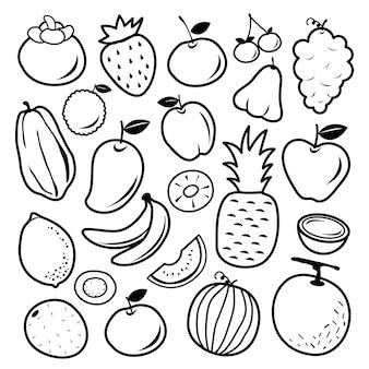Векторные иконки фруктов