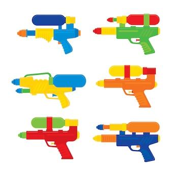 タイのハッピーソンクラン祭りの「水鉄砲おもちゃベクトル