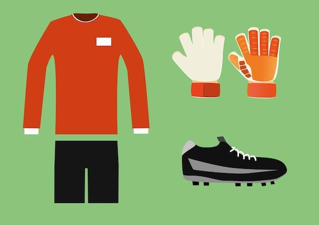 サッカーのゴールキーパーキット