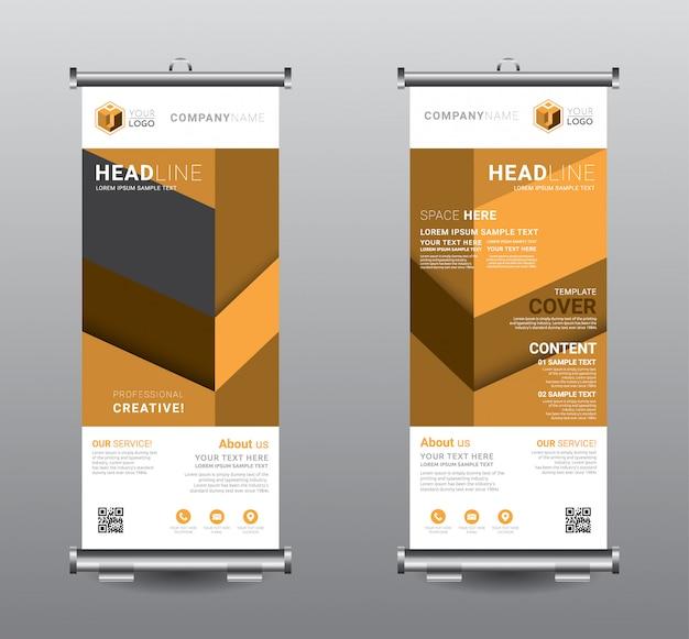 バナーの立ち客ビジネステンプレートデザインをロールアップします。
