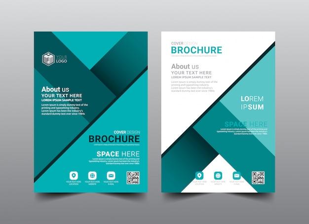 ビジネスパンフレット表紙レイアウトテンプレートデザイン。