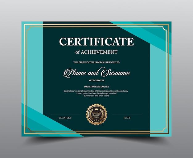 Дизайн шаблона макета сертификата. роскошь и современный стиль, произведения искусства.