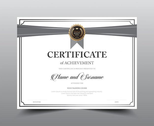 Дизайн шаблона макета сертификата.