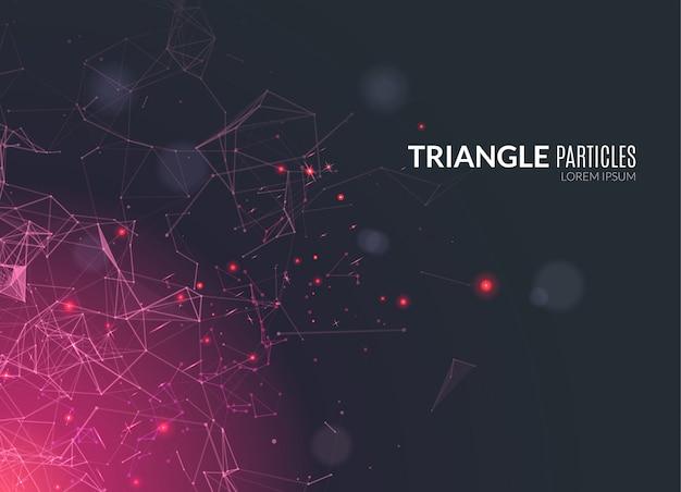 Абстрактный фон многоугольной техно