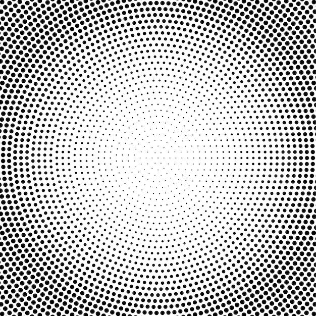 抽象的なベクトル黒と白の点線のハーフトーンの背景