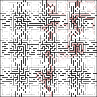 Абстрактный векторный лабиринт высокой сложности с решением