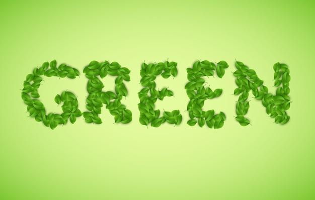 Вектор зеленое слово