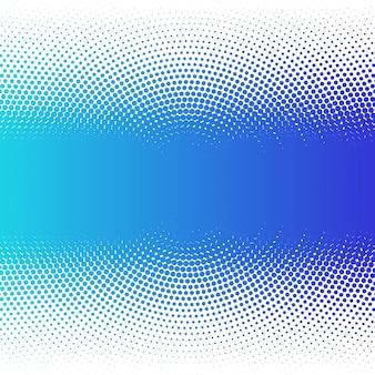 抽象的なカラフルな青いハーフトーンドット背景