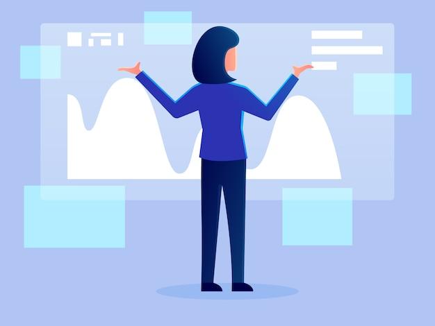 デジタル未来分析ホログラム作業文字ベクトル設計図
