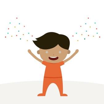 幸せな少年漫画のキャラクターは、幸せな木曜日のテーマです。