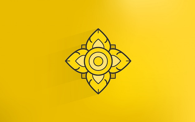 金色の背景を持つタイの伝統芸術のアイコン