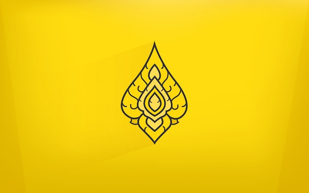 Тайская традиция искусства икона с золотым цветом фона