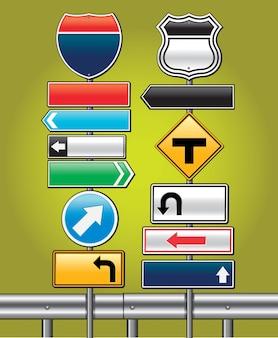 道路標識ボードベクトルイラスト