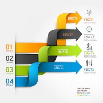 Современная стрелка бизнес диаграмма оригами стиль параметры баннер.
